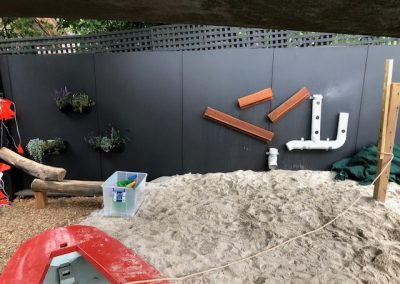 Sand Pit Play Wall
